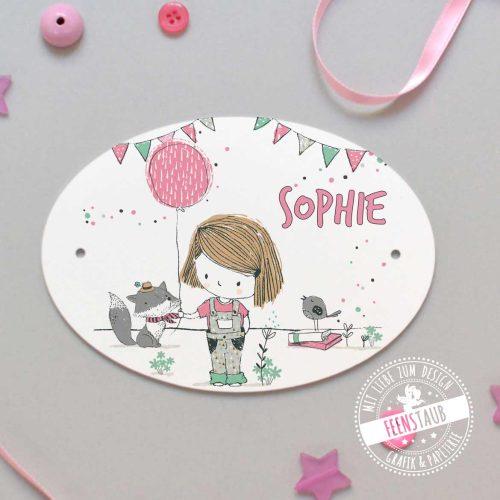 Türschild Kinderzimmer Mädchen rosa