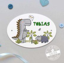 Türschild für Kinderzimmer mit Dinosauriern