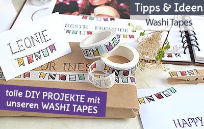 Tolle DIY Washi Tape Ideen zum selber machen und basteln