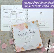 Hochzeitsgästebuch mit Fragen zum Ausfüllen für die gäste