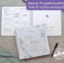 Gästebuch mit Fragen zum Ausfüllen für die Hochzeit