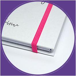 Gummiband Verschluss für individuellen Kalender