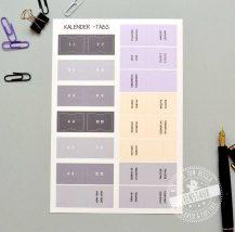 Register STicker mit Monaten und Kapitel für Kalender und Planer