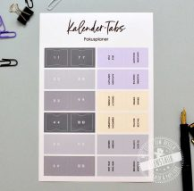 Register Sticker mit Monaten für Kalender