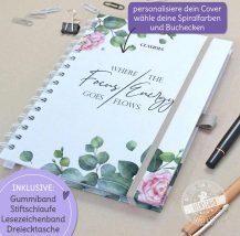 Personalisierbarer Taschekalender mit Rosen