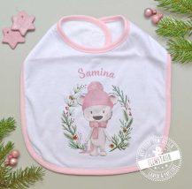 Personalisiertes Baby Lätzchen für die Weihnachtszeit