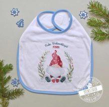 personalisiertes Baby Lätzchen für Weihnachten mit Weihnachtszwerg