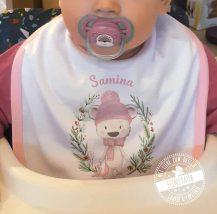 Erstes Weihnachtsfest Erinnerungsstück - personalisiertes Baby Lätzchen