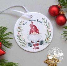 Mein erstes Weihnachtsfest personalisierte Weihnachtskugel mit Namen