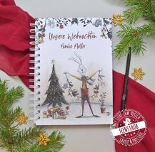 Weihnachtsbuch personalisierbar, tagebuch für die Weihnachtszeit