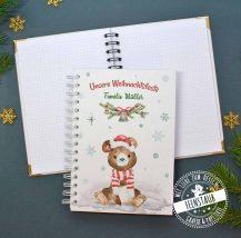 Notizbuch zu Weihnachten, Tagebuch mit Bären
