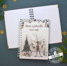 Erinnerungen der Weihnachtszeit im personalisierbaren Notizbuch sammeln