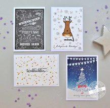 Weihnachtskarten Set zum Versenden